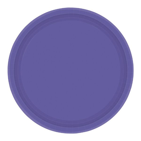 Paper Plates 23cm New Purple
